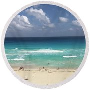 The Best View Of The Beach Round Beach Towel