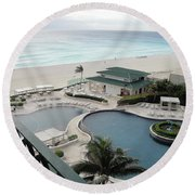 Cancun Beach Resort Round Beach Towel