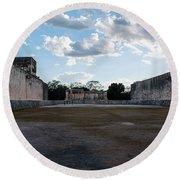 Cancun Mexico - Chichen Itza - Great Ball Court - Open End Round Beach Towel