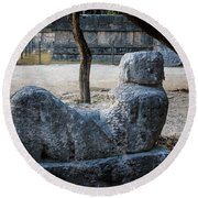 Cancun Mexico - Chichen Itza - Mayachacmool Round Beach Towel