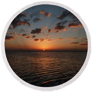 Cancun Mexico - Sunset Over Cancun Round Beach Towel