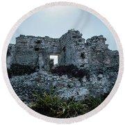 Cancun Mexico - Tulum Ruins - Palace Round Beach Towel