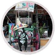 Cancun Mexico - Tulum Ruins - Souvenirs Round Beach Towel