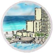 Cancun Royal Sands Round Beach Towel