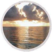 Cancun Sunrise Round Beach Towel
