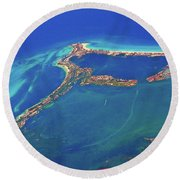 Cancun Wide By Air Round Beach Towel