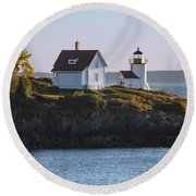 Candem Lighthouse Round Beach Towel