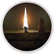 Candle 2 Round Beach Towel