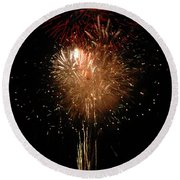Candle Burst Round Beach Towel