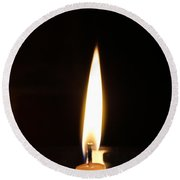 Candle Light Round Beach Towel