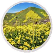Candle Light In The Temblors - Superbloom 2017  Round Beach Towel