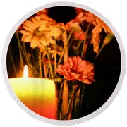 Candle Lit Round Beach Towel