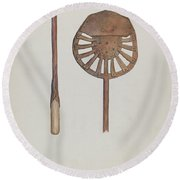 Candle Maker Round Beach Towel