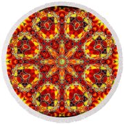 Candle Wood Round Beach Towel