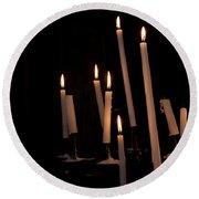 Candles Round Beach Towel