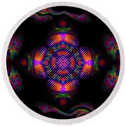 Candy Art Round Beach Towel