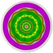 Candy Colors Liberation Round Beach Towel