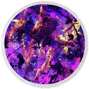 Candy Colours Abstract Round Beach Towel