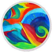 Candy Flip Round Beach Towel