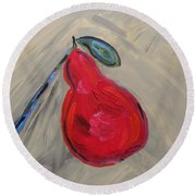 Candy Red Round Beach Towel