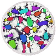 Candy Scatter Round Beach Towel