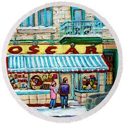 Candy Shop Round Beach Towel
