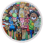Candy Store Kids Round Beach Towel