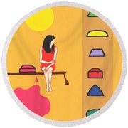 Candy Store Round Beach Towel