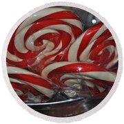 Candycane Lolli Round Beach Towel