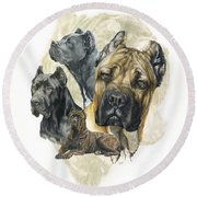 Cane Corso W/ghost Round Beach Towel