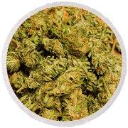 Cannabis Bowl Round Beach Towel