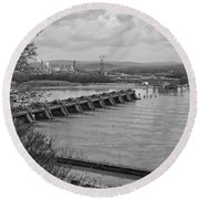 Cannelton Locks And Dam Round Beach Towel