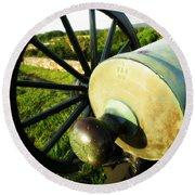 Cannon At Antietam Round Beach Towel