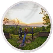 Cannon At Fort Boreman Round Beach Towel