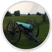 Cannon At Gettysburg 2 Round Beach Towel