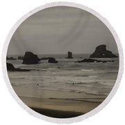 Cannon Beach 1 Round Beach Towel