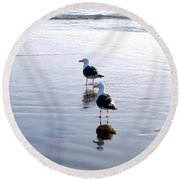 Cannon Beach Buddies Round Beach Towel