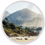 Cannon Beach Oceanfront Vacation Homes Round Beach Towel