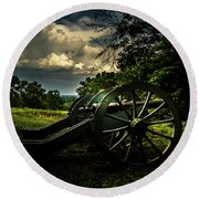Cannon Encampment Valley Forge Round Beach Towel