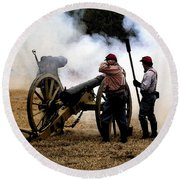 Cannon Fire Round Beach Towel