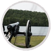 Cannon Protection Round Beach Towel