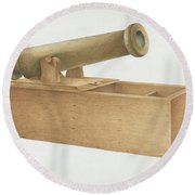 Cannon-shaped Ballot Box Round Beach Towel