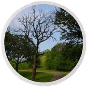 Cannon Valley Trail Round Beach Towel