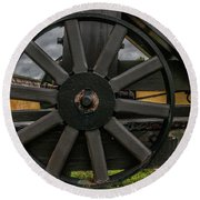 Cannon Wheel Round Beach Towel