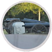 Cannons At Shiloh Round Beach Towel