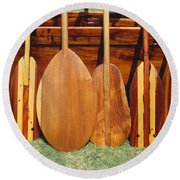 Canoe Paddles Round Beach Towel