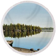 Canoe The Massassauga Round Beach Towel