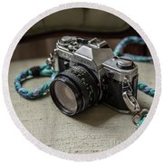 Canon Ae-1 Film Camera Round Beach Towel