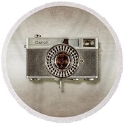 Canonete Film Camera Round Beach Towel