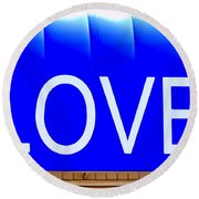 Canopy Of Love Round Beach Towel